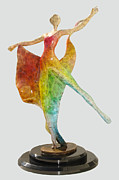 Color Sculpture Originals - Dancer with Shawl by Esther Wertheimer