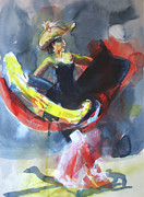 American Cowboy Artist Framed Prints - Dancer2 Framed Print by Daniel Whitmer