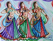 Indian Art - Dancers by Harsh Malik