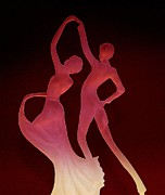 Ballroom Digital Art Posters - Dancers Poster by Lori Seaman