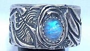 Dancers Jewelry - Dancers ring with moonstone by Amy Sindermann