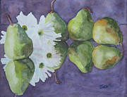 Still Life Paintings - Dances With Pears by Jenny Armitage