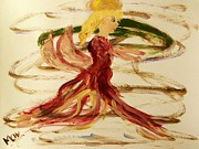 Angel Drawings - Dancing Angel by Mary Carol Williams