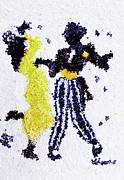 People Glass Art Posters - Dancing couple Poster by Natalya A