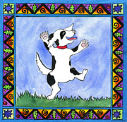 Dancing Dog Print by Pamela  Corwin