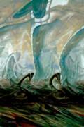 Dancing Dolphins Print by Linda Sannuti