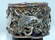 Water Jewelry - Dancing Dolphins ring by Amy Sindermann