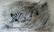 Stripes Mixed Media - Dancing Dust by Lucinda Coldrey