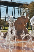 Spring Scenes Digital Art - Dancing Elephant Fountain Chattanooga by Jake Hartz
