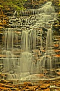 Pa State Parks Photos - Dancing Falls by Adam Jewell