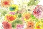 Dancing Flowers Print by Christine Crawford
