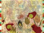 Abstract Wildlife Mixed Media - Dancing Flowers by Gloria  Von Sperling