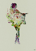 Romance Painting Prints - Dancing Geisha Print by Irina  March