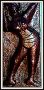 Sculptures Sculpture Framed Prints - Dancing Girl Framed Print by Anand Swaroop Manchiraju