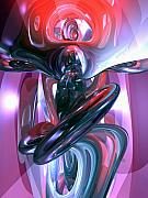 Hallucination Metal Prints - Dancing Hallucination Abstract Metal Print by Alexander Butler