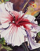 Marionette Paintings - Dancing Hibiscus by Marionette Taboniar