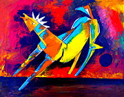 Horse Drawings Prints - Dancing Horse Print by Artist  Singh