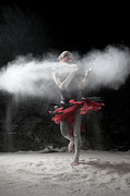 Surrealism Photo Prints - Dancing in Flour Series Print by Cindy Singleton