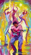 New Orleans Paintings - Dancing in the Streets by Saundra Bolen Samuel