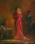 Dinner Painting Originals - Dancing Lady by Lynda McDonald