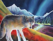 Yellowstone Paintings - Dancing Lights by Harriet Peck Taylor