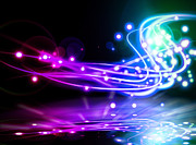 Abstract Digital Art - Dancing Lights by Setsiri Silapasuwanchai