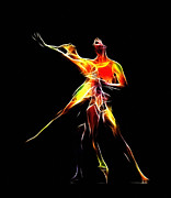 Ballet Dancers Digital Art Prints - Dancing Lovers Print by Stefan Kuhn