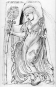 Greek Sculpture Drawings Framed Prints - Dancing Maenad Framed Print by Sabrina Khan