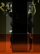 Dancing Digital Art Posters - Dancing Mirrors Poster by Irina  March