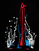 Paint Splash Photos - Dancing Paint Drops by Susan Candelario