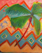 Fineartamerica.com Paintings - Dancing Palm by Karen Francis