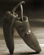 Kitchen Wall Originals - Dancing Peppers by Terence Davis