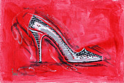 Shoe Framed Prints - Dancing Queen Framed Print by Richard De Wolfe