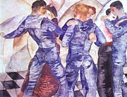 World War One Painting Prints - Dancing Sailors Print by Pg Reproductions