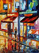 Building Painting Originals - Dancing Street by Leonid Afremov