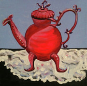 Teapot Painting Originals - Dancing Teapot by Melanie Wadman
