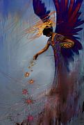 Acrylic Mixed Media Metal Prints - Dancing the Lifes Web Star Gifter Does Metal Print by Stephen Lucas