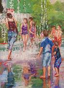 Figures Pastels Prints - Dancing Water  Print by Beth Brooks