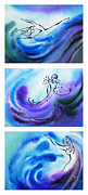 Cool Abstract Art - Dancing Water V by Irina Sztukowski