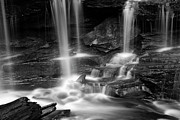 White River Scene Prints - Dancing Waterfall Print by John Stephens