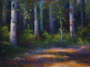 Dancing Light Art - Dancing with the Birch Trees by MaryAnn Cleary
