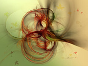 Dancing Wood Spirit Print by Jutta Maria Pusl