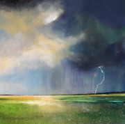 Lightning Paintings - Dandelion Fields by Toni Grote
