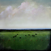 Angus Paintings - Dandelion Pastures by Toni Grote