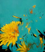 Dandelion Paintings - Dandelion Summer by Lin Petershagen