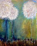 Dandelion Paintings - Dandelion Trees by Nancy Hilliard Joyce