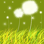 Dandelion Paintings - Dandelions Are Free by Oiyee  At Oystudio