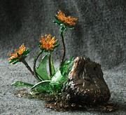 Flower Sculptures - Dandelions by Mariann Taubensee