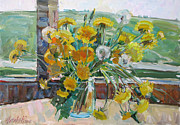 Moscow Paintings - Dandelions ordinary by Juliya Zhukova