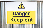Work Site Posters - Danger sign Poster by Tom Gowanlock